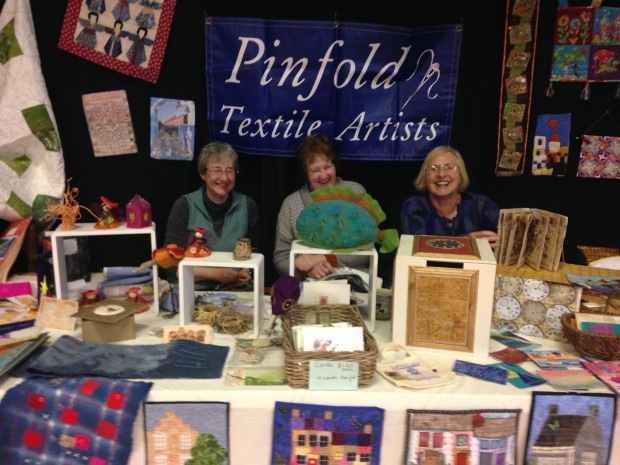 Pinfold Textile Art Group stand 2017